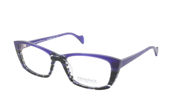 Face A Face Eyeglasses Frame SELMA 2 Col. 2014 Acetate Lines and Blue Light