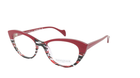 Face A Face Eyeglasses Frame SELMA 1 Col. 3024 Acetate Red Lines and Light