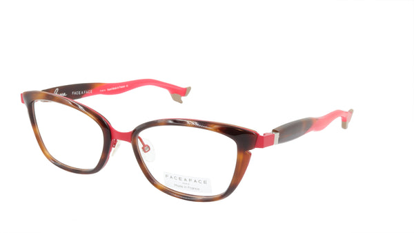 Face A Face Eyeglasses Frame BOCCA STAR 1 Col. 982M Acetate Matte Cherry Red