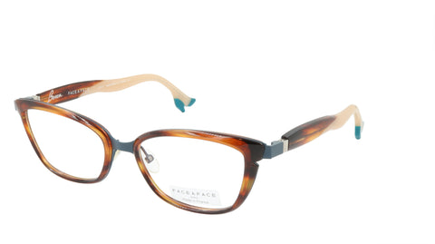 Face A Face Eyeglasses Frame BOCCA STAR 1 Col. 9470 Acetate Blue Grey Brown Horn