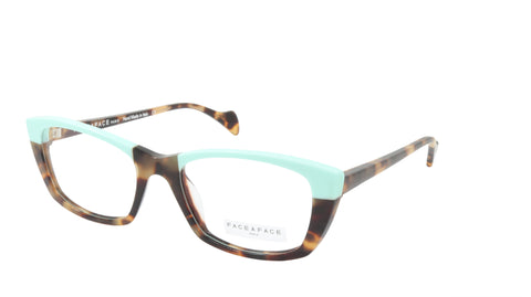 Face A Face Eyeglasses Frame SELMA 2 Col. 2120 Acetate Camouflage Yellow Opaque
