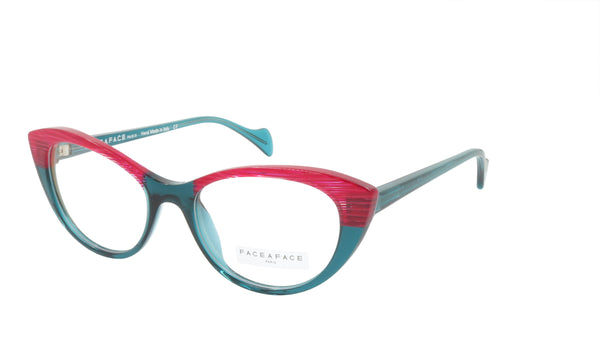Face A Face Eyeglasses Frame SELMA 1 Col. 2045 Acetate Transparent Duck Blue