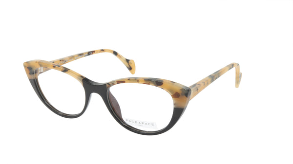Face A Face Eyeglasses Frame SELMA 1 Col. 100 Acetate Safari Black
