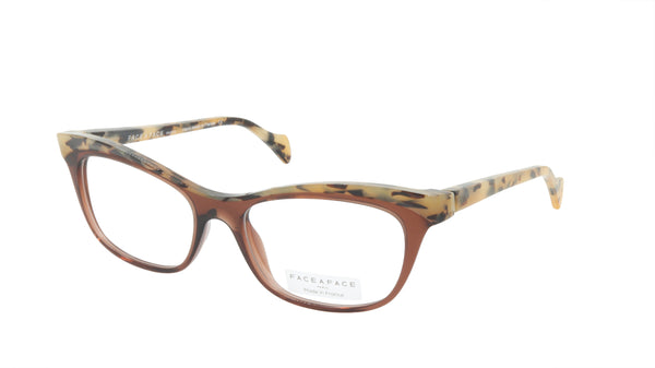 Face A Face Eyeglasses Frame GILDA 2 Col. 222 Acetate Chestnut Brown Safari