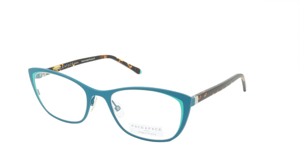 Face A Face Eyeglasses Frame JOYCE 1 Col. 9387 Acetate Blue Turquoise Spotted