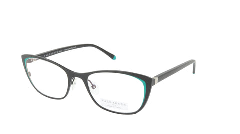 Face A Face Eyeglasses Frame JOYCE 1 Col. 9704 Acetate Satin Black Emerald Green