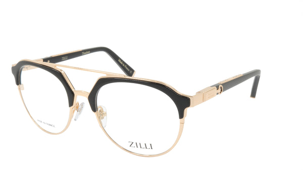 ZILLI Eyeglasses Frame Titanium Acetate Leather France Made ZI 60023 C01
