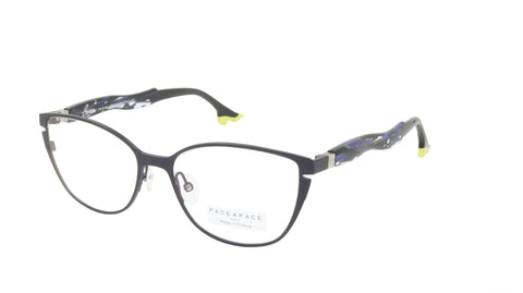 Face A Face Eyeglasses Frame BOCCA BELLE 2 Col. 933 Acetate Dark Blueberry Lines