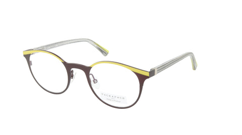 Face A Face Eyeglasses Frame EMMIE 2 Col. 9670 Acetate Acid Yellow Dark Aubergin