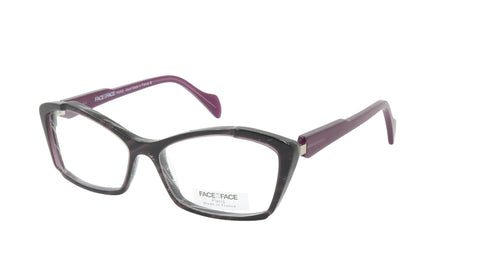 Face A Face Eyeglasses Frame POP UP 2 Col. 174 Acetate Lace Purple Cable Horn