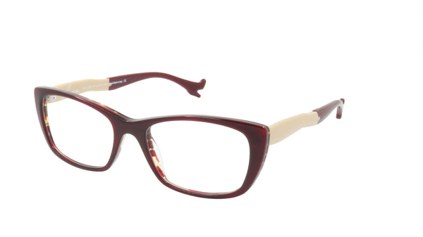 Face A Face Eyeglasses Frame BOCCA Sexy 2 Col. 214 Acetate Dark Red Yellow Flame