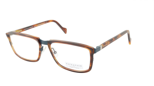Face A Face Eyeglasses Frame VIGGO 1 Col. 9470 Acetate Metal Blue Grey Brown Hor