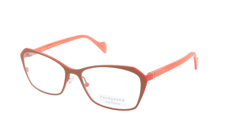 Face A Face Eyeglasses Frame KEIRA 2 Col. 9238 Acetate Metal Matte Terracotta