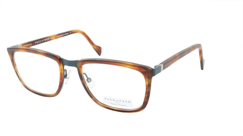 Face A Face Eyeglasses Frame VIGGO 2 Col. 9470 Acetate Metal Blue Grey Brown Hor