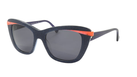 Face A Face Sunglasses Frame SHINE 1 Col. AT18 Acetate Fabric Jean Crystal Orang