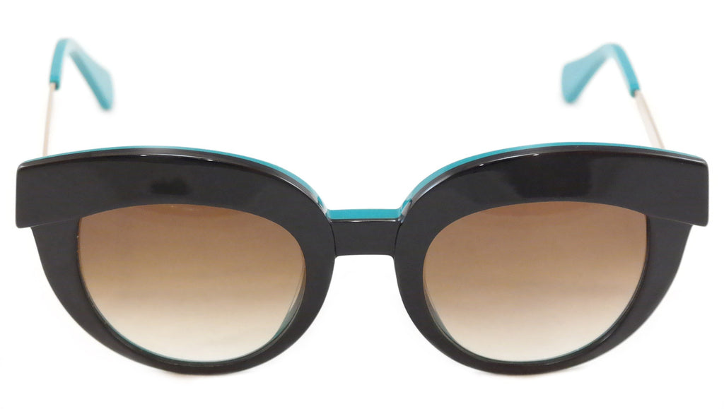 Face A Face Sunglasses Dolce 1 5014 Black Emerald Plastic Metal Italy Hand Made