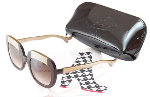 Face A Face Bocca Sunglasses Lova 1 222 Brown Cream Plastic Italy Hand Made