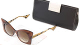 Face A Face Sunglasses Punk Her 4 222 Brown Safari Satin Plastic Italy Hand Made - Frame Bay