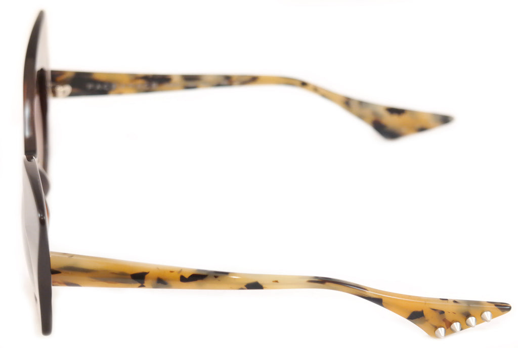Face A Face Sunglasses Punk Her 4 222 Brown Safari Satin Plastic Italy Hand Made