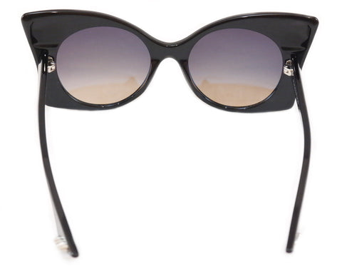 Face A Face Sunglasses Punk Her 4 100 Black Satin Plastic Italy Hand Made Rare
