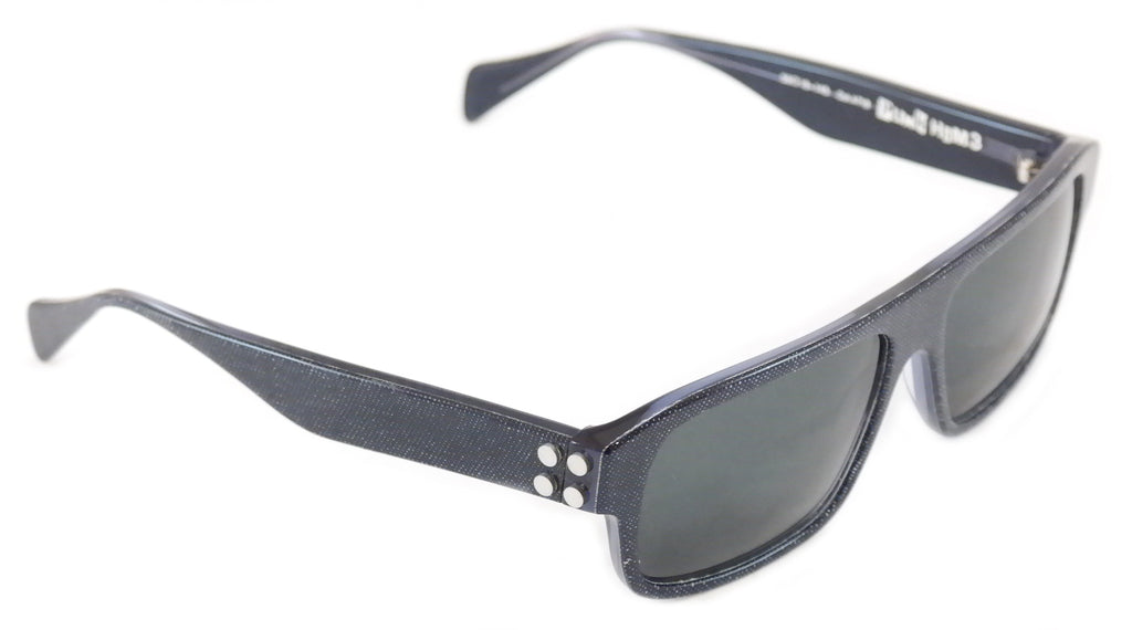 Face A Face Sunglasses Punk Him 3 AT18 Crystal Blue Jean Satin Italy Hand Made