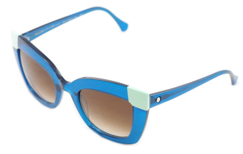 Image of Face A Face Sunglasses Frame Poppy 2 665 Blue Plastic Italy Hand Made 52-24-136