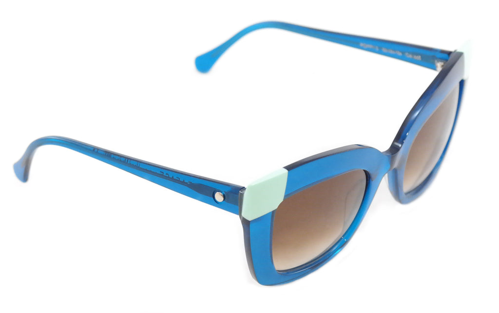 Face A Face Sunglasses Frame Poppy 2 665 Blue Plastic Italy Hand Made 52-24-136