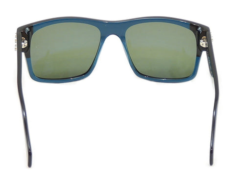 Image of Face A Face Sunglasses Punk Him 2 514 Black Ink Blue Satin Metal Italy Hand Made