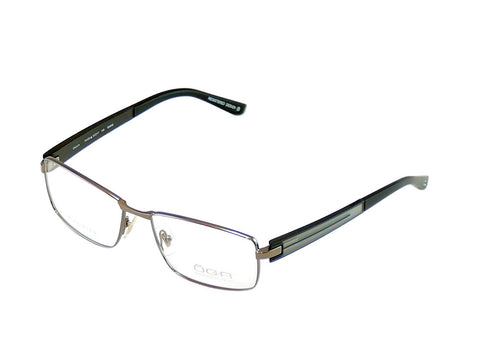 Image of OGA Morel Eyeglasses Frame 74120 GG033 Gunmetal Metal Plastic France 57-17-145