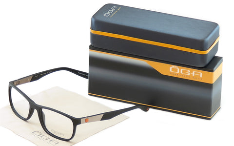 Image of OGA Morel Eyeglasses Frame 71970 NG031 Matte Black Plastic France Made 57-19-140