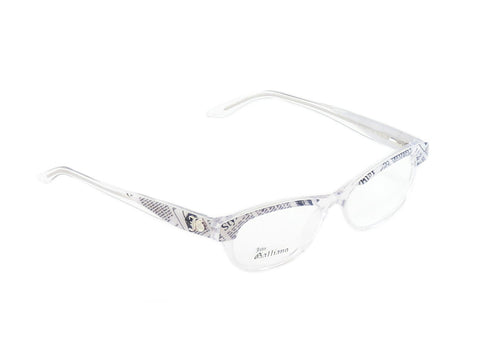 Image of John Galliano Eyeglasses Frame JG5003 024 Plastic Black White On Newspaper Italy