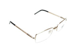 Mont Blanc Eyeglasses Frame MB440 028 Gold Black Metal Acetate Italy 55-19-135 - Frame Bay