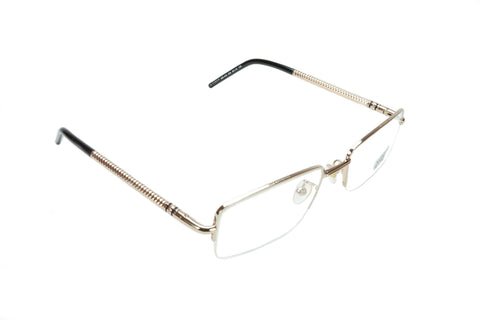 Mont Blanc Eyeglasses Frame MB440 028 Gold Black Metal Acetate Italy 55-19-135