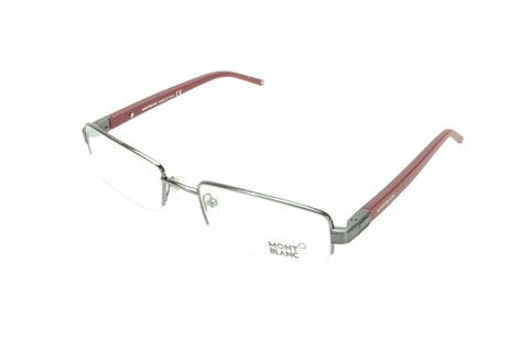 Mont Blanc Eyeglasses Frame MB342 008 Gunmetal Bordeaux Metal Rubber Italy Made