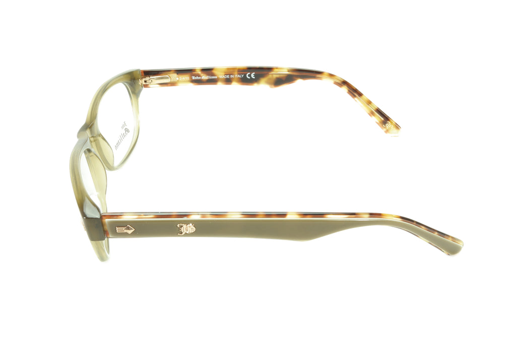 John Galliano Eyeglasses Frame JG5015 093 Acetate Grey Brown