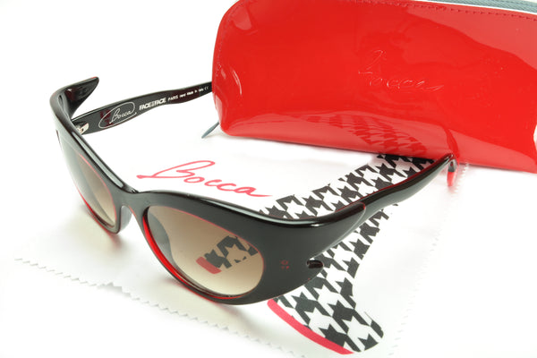Face a Face Bocca Rock 3 400 Limited Edition Sunglasses Black Red Acetate Italy Hand Made - Frame Bay