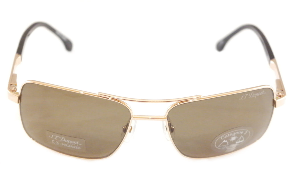 S. T. Dupont Sunglasses DP7003 Polarized Lenses Metal Japan 100% UV Category 3