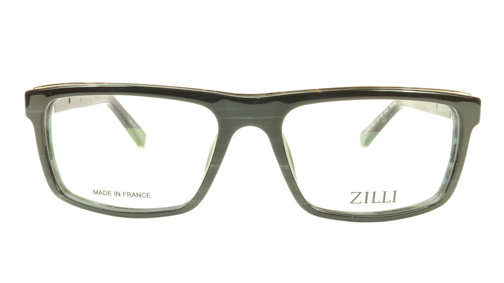 ZILLI Eyeglasses Frame Acetate Leather Titanium France Hand Made ZI 60002 C02