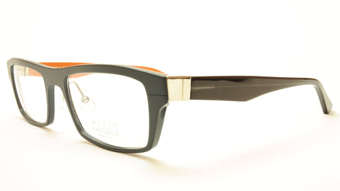 Face A Face ALIUM 1 AN959 Aluminum Eyeglasses Black Orange France Made - Frame Bay