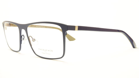 Face A Face LAKER 2 9329 Aluminum Eyeglasses Navy Blue Caulk France - Frame Bay