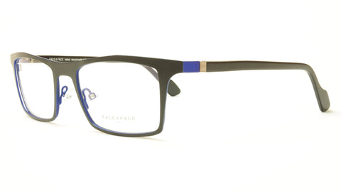 Face A Face LUCAS 3 9401 Aluminum Eyeglasses Matte Black Blue France - Frame Bay