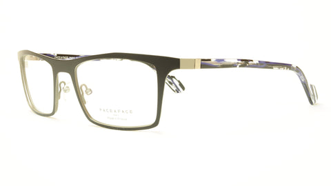 Face A Face LUCAS 3 9390 Aluminum Eyeglasses Satin Black Grey France - Frame Bay