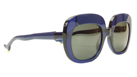 Face A Face Sunglasses Frame BOCCA Lova 1 008 Acetate Navy Blue Italy Hand Made