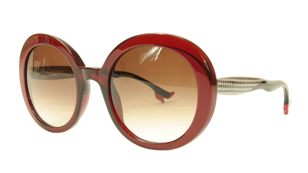 Face A Face Sunglasses Frame BOCCA Moon 1 290 Dark Red Houndstooth Italy Made - Frame Bay