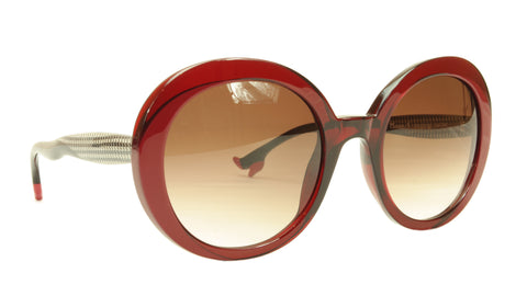 Face A Face Sunglasses Frame BOCCA Moon 1 290 Dark Red Houndstooth Italy Made