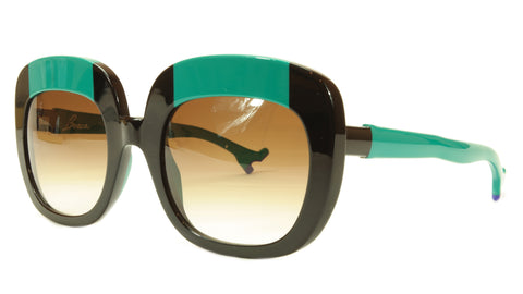 Face A Face Sunglasses Frame BOCCA Lova 1 4027 Acetate Black Emerald Italy Made - Frame Bay
