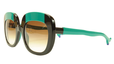 Face A Face Sunglasses Frame BOCCA Lova 1 4027 Acetate Black Emerald Italy Made