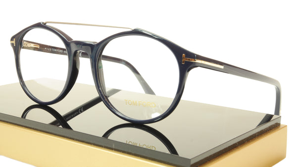 Tom Ford Eyeglasses Frame TF5455 090 Dark Navy Blue Italy 52-20-145 - Frame Bay