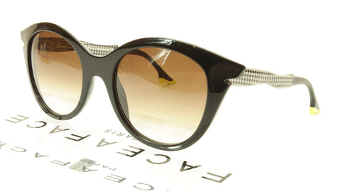 Image of Face A Face Bocca Sixties 3 100 Sunglasses Black Houndstooth Italy Hand Made