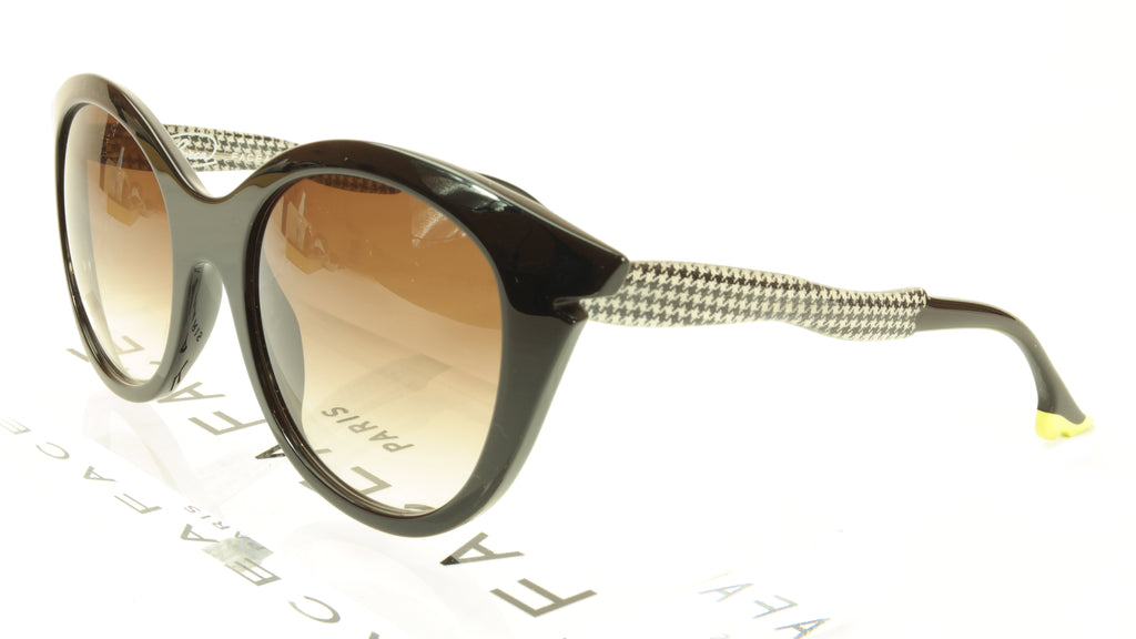 Face A Face Bocca Sixties 3 100 Sunglasses Black Houndstooth Italy Hand Made